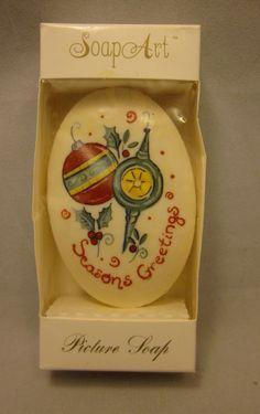 Lasting Impression Decorative Soap Art Seasons Greetings Holidays Christmas 3oz