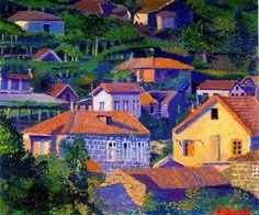 Palencia, Benjamin - 1918 Around Bilbao Bilbao, Luis Bunuel, Spanish Painters, Fauvism, Joan Miro, Paintings I Love, Prado, Abstract Landscape, Home Art