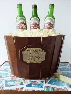 Beer Bucket Cake for Dad! | Satin Ice