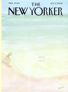 "The New Yorker - Monday, July 17, 2000 - Issue # 3897 - Vol. 76 - N° 19 - Cover ""Attempting the Record"" by ""Sempé"" - Jean-Jacques Sempé"