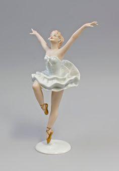 Porcelaine-personnage ballerine danseuse ballet danse wallendorf 7740025 | eBay