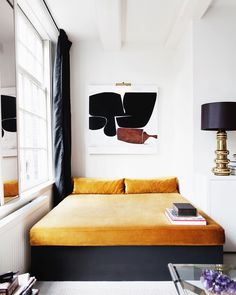 Project Nr. 66 | Amsterdam City Apartment | Spring 2014 | The redesigned space is a collection of custom designs; such as the day bed |…