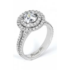 The double halo ring! An engagement ring to remember this handcrafted platinum U-Set diamond double halo diamond ring features split shank details. Also available in white yellow and rose gold. Double Halo Engagement Ring, Engagement Sets, Engagement Ring Styles, Diamond Engagement Rings, Wedding Rings Vintage, Diamond Wedding Bands, Capri, Split Shank, Dream Wedding