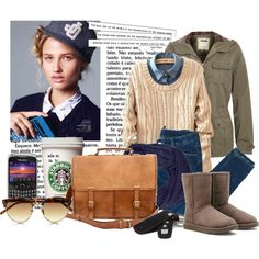 """""""College Outfit"""" by art-lover on Polyvore"""