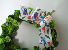 Wreath with FabricRibbon