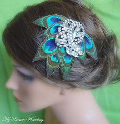"Screw ""wedding party."" I'd totally wear this in my hair as an everyday piece. So pretty."