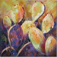 Jean Levert HoodTexas Hill Country Painter: Yet Another Prickly Pear Oil Painting, Spring Continues!