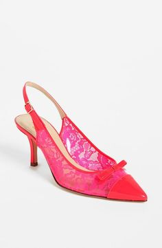Hot Pink + Lace = Pump Heaven