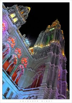 Coloured Night by Christian Oser ~ Vienna