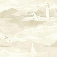 Lighthouse Cream Nautical Wallpaper | Departments | DIY at B&Q
