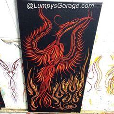 Pinstripe Art, Rat Fink, Garage Art, Pinstriping, Brushing, Custom Paint, Motorcycle, Hand Painted, Graphics
