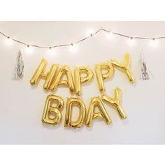 NPW Gold Foil Happy Birthday Balloon Kit