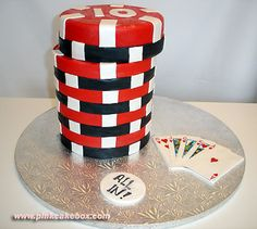 My Hubby's Grooms Cake 3-23-07 #1 Poker Chip Grooms Cake by Pink Cake Box in Denville, NJ.  More photos and videos at http://blog.pinkcakebox.com/poker-chip-grooms-cake-2007-03-25.htm