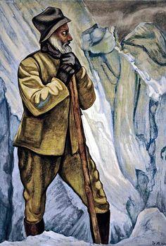 Dr. Atl pintor mexicano, (1875-1964) - 1938 Self-Portrait.