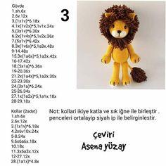 Crochet Animal Patterns, Crochet Doll Pattern, Stuffed Animal Patterns, Crochet Patterns Amigurumi, Baby Knitting Patterns, Crochet Animals, Crochet Toys, Crochet Lion, Crochet Disney