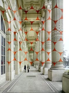 Felice Varini New Piece In Paris, France