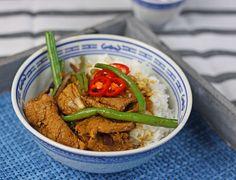 schnelle Wokpfanne mit Schweinefilet #asiatisch #Wok #Wokpfanne #Schweinefilet #pork #Bohnen #Beans #Sojasauce #Currypaste #healthy #schnell #einfach #lecker