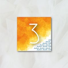 Numéro de table - Couleurs du Sud - Papeterie Mariage
