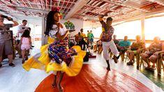 Dança no barco, em Belem do Para