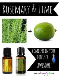 Diffuse Rosemary and Lime- smells fantastic! and it promotes focus and energy: