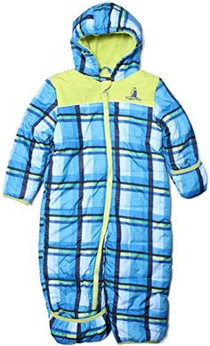 597eacd55 Rugged Bear - Baby Boys 12-24M Plaid Soft Winter Snowsuit Pram/ Blue12  Rugged