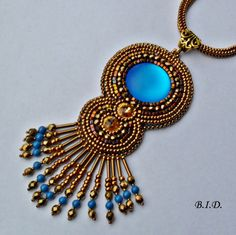 Bead Embroidery Necklace  Bead Embroidery Earring  от BobeIkotics