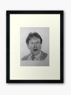 Robin Williams Hand Drawn and Framed Drawing Frames, Graphite Drawings, Robin Williams, Centerpiece Decorations, Artwork Design, Off Colour, Custom Boxes, Box Frames, Framed Art Prints