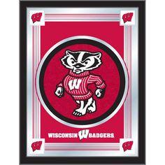 Wisconsin Badgers Mascot Wall Mirror