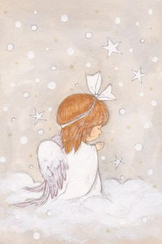 Leading Illustration & Publishing Agency based in London, New York & Marbella. Angel Images, Angel Pictures, Christmas Angels, Christmas Art, Engel Illustration, Angel Drawing, Angel Crafts, Angel Art, Cute Art
