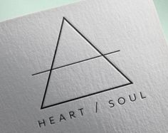 triangle logo design – Etsy