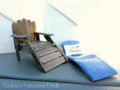 Miniature Craft Stick Chair (Gift Card Idea)