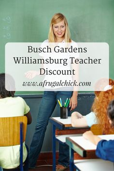 Busch Gardens Williamsburg Teacher Discount- Teachers can save up to 50% on single day tickets to Busch Gardens or Water Country USA!