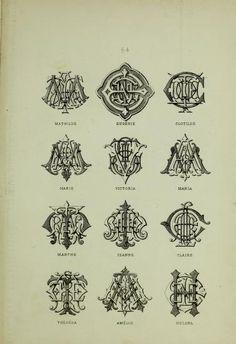 A monogram and alphabet album