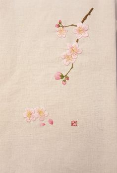 Hand Embroidery Projects, Floral Embroidery Patterns, Hand Embroidery Videos, Simple Embroidery, Japanese Embroidery, Hand Embroidery Stitches, Hand Embroidery Designs, Embroidery Art, Cross Stitch Embroidery