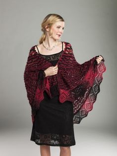 Dancing Flame Shawl - free knitting pattern found at Universal Yarn Company website