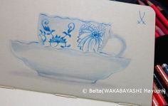 2014_01_30_meissen_01_s meissen blue onion  for this drawing I used: Faber castell polychromos Moleskine sketchbook  © Belta(WAKABAYASHI Mayumi)