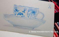 2014_01_30_meissen_01_s meissen blue onion  for this drawing I used: Faber castell polychromos Moleskine sketchbook  © Belta(WAKABAYASHI Mayumi)