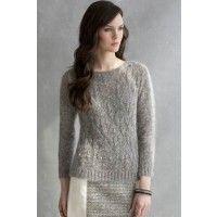 Ivie Pullover in Celine and Luna   InterweaveStore.com