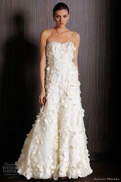 badgley mischka #wedding dresses meadow gown  http://weddinginspirasi.com/2011/03/28/badgley-mischka-bridal-spring-2011-collection/  #weddings #bridal #weddingdress
