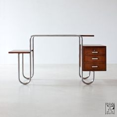 thedesignwalker:  Tubular steel desk from the 30s