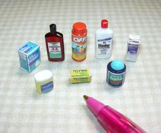 Medicine Cabinet Assortment: DOLLHOUSE Miniatures Scale 1/12 | eBay