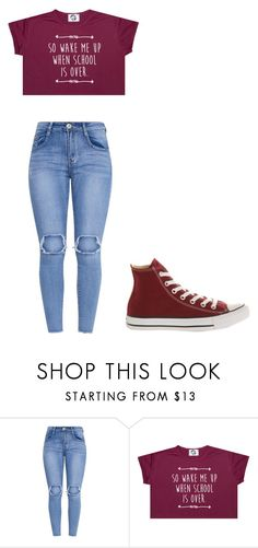 """""""Untitled #310"""" by thenerdyfairy on Polyvore featuring Converse"""