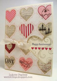 Valentine or Anniversary Card---- Love this gorgeous card! Valentine's Day Greeting Cards, Making Greeting Cards, Card Making Inspiration, Making Ideas, Wedding Anniversary Cards, Happy Anniversary, Engagement Cards, Valentine Day Cards, Valentines