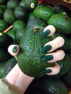 green acrylic nails - Google Search