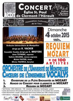 Clermont l'Hérault : Le Requiem de Mozart le 4 octobre