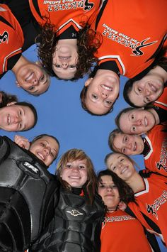 Softball team picture,  great pic idea for scrapbooking!