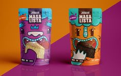 Masa Lista Cake Batter is Bringing a Whole Lot of Adorable Popcorn Packaging, Chip Packaging, Packaging Snack, Biscuits Packaging, Kids Packaging, Candy Packaging, Food Packaging Design, Chocolate Packaging, Packaging Design Inspiration