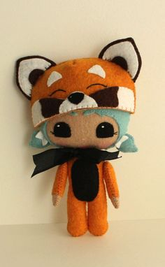 Red panda makes a perfect companion to bring along on any adventure!