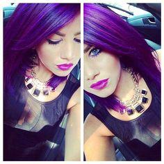 Pravana violet love the purple hair Lavender Hair Dye, Purple Hair, Violet Hair, Purple Ombre, Ombre Hair, Hair Color And Cut, Cool Hair Color, Love Hair, Great Hair
