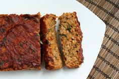 "Vegan Lentil ""Meat"" Loaf from Tasty Yummies via Healthful Pursuit blog."
